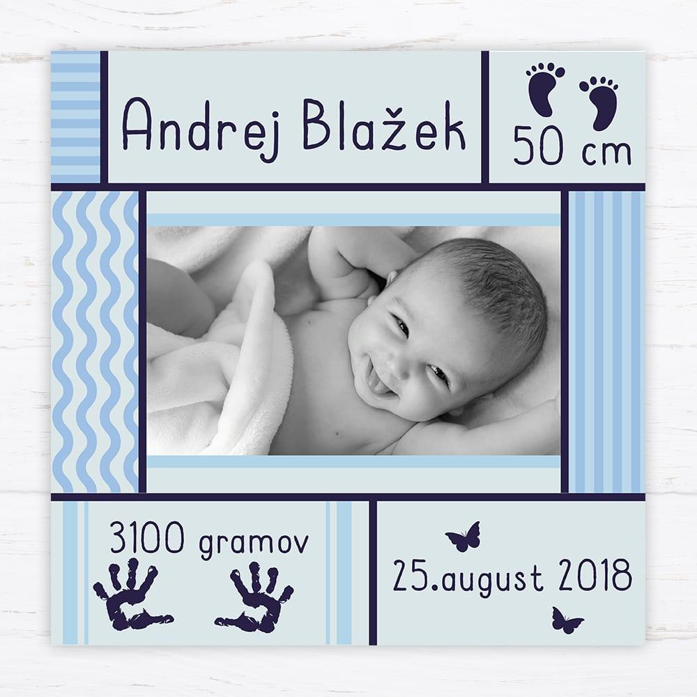 510d4848260e Dekoračná tabuľka Baby je vyrobená z kappa materiálu (je to ľahký materiál